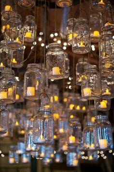 Mason Jar chandelier Kinda obsessed with mason jars now.