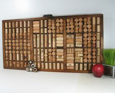printer drawer filled with wine corks!