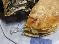 Αλμυρή τούρτα με κρέπες σπανάκι, ζαμπόν και τυρί Ethnic Recipes, Food, Meal, Eten, Meals