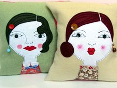 Deco Gals Cushions by Samantha Stas