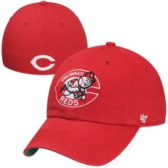 Cincinnati Reds Cooperstown Franchise II Fitted Hat - Red