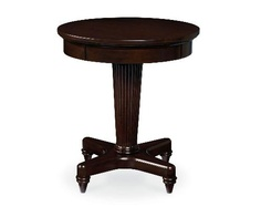 Either as an end table, or as an accent table anywhere in your home, the Wynwood Tuxedo Park Round End Table will add a beautiful, traditional. Table, Wynwood Furniture, End Tables, Furniture, Home Decor, Round, Stool