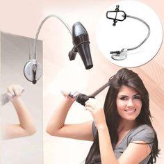 Removable Sucker Swivel Hair Dryer Holder