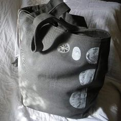 Square tote gym Grey