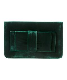 Look at this Shiraleah Forest Green Bruna Clutch on #zulily today!