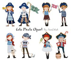 Pirate cute Clipart ,boy  clipart, girl clip art Instant Download PNG file - 300 dpi by HandMek on Etsy https://www.etsy.com/listing/222802198/pirate-cute-clipart-boy-clipart-girl
