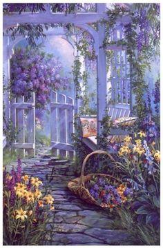 Американская художница Sandra Bergeron