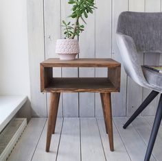 Bedroom Furniture Scandinavian Inspiration 53 New Ideas – toptrendpin. Coral Painted Furniture, Solid Pine Furniture, Pallet Patio Furniture, Hallway Furniture, Unique Furniture, Contemporary Furniture, Bedroom Furniture, Walnut Bedside Table, Oak Nightstand
