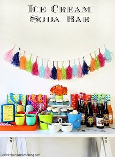 CELEBRATE BIRTHDAYS WITH AN ICE CREAM SODA BAR — Celebrations at Home
