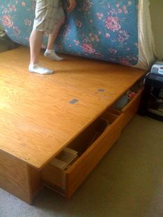 KING SIZE BED FRAME W/ STORAGE in JoshnSash's Garage Sale in San Jose , CA for $100.00. KING SIZE WOODEN BED FRAME WITH TWO PULL OUT DRAWERS ON EACH SIDE. PICK UP ONLY.