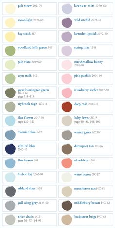 Benjamin Moore Paint Colors for Pottery Barn Kids July 2012 Room Colors, Wall Colors, House Colors, Colour Schemes, Color Combos, Palette Verte, Benjamin Moore Paint, Paint Colors For Home, Paint Colours
