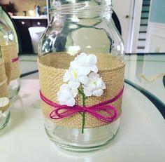 DIY rustic jar decorative