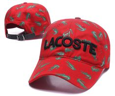 Men's / Women's Lacoste Full Croc Print Letter Embroidery Curved Dad Cap - Red (Copy Ori) Adidas Baseball, Baseball Caps, Lacoste Store, Dad Caps, Nike Golf, Knit Beanie, Crocs, Knitted Hats, Air Jordans