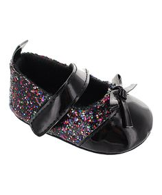 Take a look at this Black Pat Glitter Sequin Mary Jane Booties today!