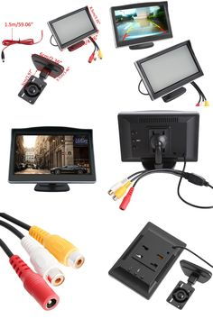 "[Visit to Buy] 5"" Car Monitor TFT LCD Screen HD Digital Car Rearview VCD/DVD/GPS Camera Car Video Players Vehicle Car Monitors #Advertisement"