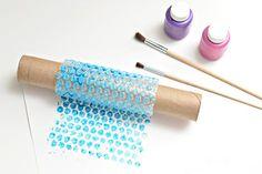 Bubble Wrap Paint Roller