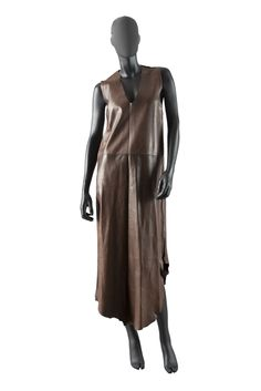 #INVESTINTHEORIGINAL   WHEN Maison Martin Margiela WAS THE REAL#MARTINMARGIELA NOT Diesel ...   SHOP NOW #MAISONMARTINMARGIELA, 1996-1997, BROWN LEATHER DRESS   >> AVAILABLE FOR A LIMITED TIME ONLY @ byronesque.com