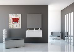 KA collection answers to the preoccupation of procuring a warm place in the #bathroom, capable of matching the same level of importance than other rooms. #design