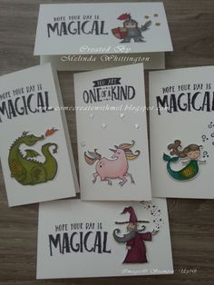 Melinda Whittington, Stampin' Up! Demonstrator Australia, Magical Day, Narrow Note Cards, Stampin' Blends, Quick Note Card, Myths & Magic,