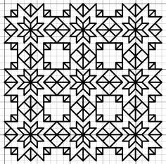 Blackwork Stars Fill Pattern