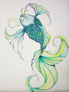 Koi Fish. Art Print