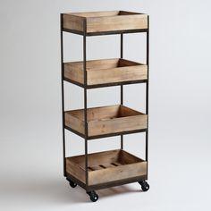 4-Shelf Wooden Gavin Rolling Cart SKU# 467403 $149.99