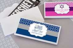 4 Ideas for Sweet Party Takeaways - Bar & Bat Mitzvah Candy Bar Wrappers from Cool Party Favors - mazelmoments.com