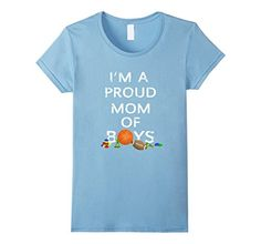 Grab one of these t-shirts to proudly exclaim that you or someone you know are a mom of sons. The art captures the mess of boy childhood. With a basketball, football, army man men, and blocks, this shirt screams I'm A Proud Mom of Boys! I'm A Proud Mom of Boys Funny Basketball Football Baby Blue T-Shirt  https://www.amazon.com/dp/B06XQTJGCW/ref=cm_sw_r_pi_dp_x_YDFZybXHRR7RR