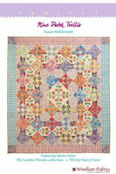 Pretty free quilt pattern: Nine Patch Trellis by Susan McDermott