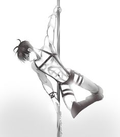 Stripper - Pole Dancer - Levi Ackerman - Attack on Titan - Shingeki no Kyojin - AU