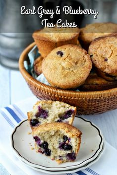 Earl Grey Best Muffin Recipe, Simple Muffin Recipe, Caramel Apple Cookies, Caramel Apples, Blueberry Tea, Food Words, Little Cakes, Tea Cakes