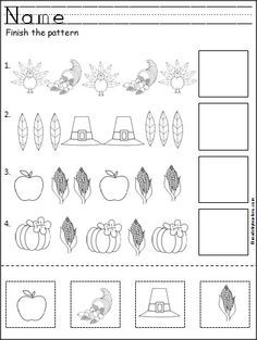 7 Best Home school worksheets Louie images | Thanksgiving worksheets ...