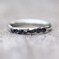 Raw black diamond ring // Hidden Gems - Gardens of the Sun Jewelry
