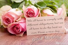 Start the day off with the beautiful roses, you may be able to create beautiful morning quotes for your loved ones. It shows interest from the smallest things. Send the good morning images you've just created to bring a big smile on everyone's face. Good Morning Greeting Cards, Online Greeting Cards, Good Morning Greetings, Good Morning Wishes, Beautiful Morning Quotes, Morning Quotes Images, Good Morning Picture, Good Morning Images, Happy Birthday Lover