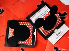 Wish. Invitaciones, papelería y detalles para bodas, cumpleaños y eventos.Mickey - Invitación pop up para cumpleaños infantil