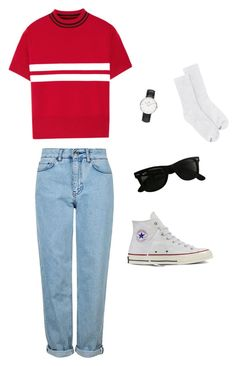 """""""Untitled #115"""" by kduffy-1 on Polyvore featuring Tim Coppens, Daniel Wellington, Topshop, Converse, Ray-Ban and Hanes"""
