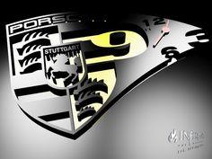 Porsche Design Clock, steel, plexiglass, LED