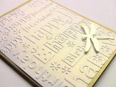 Golden Dragonfly Happy Birthday Card by zuCards on Etsy, $3.00