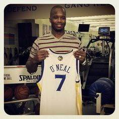 """""""You have a tremendous fanbase and a nucleus of young studs,"""" - Jermaine O'Neal on his decision to join the #Warriors."""