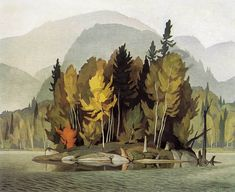 Casson, Hazy October Morning, Canadian Group of Seven Group Of Seven Artists, Group Of Seven Paintings, Paintings Famous, Beautiful Paintings, Art Paintings, Tom Thomson, Canadian Painters, Canadian Artists, Emily Carr