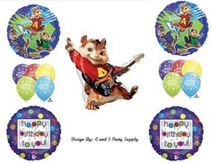 Alvin and the Chipmunks Birthday Balloon Decorating Kit! 15 pieces!