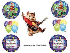Alvin and the Chipmunks Birthday Balloon Decorating Kit! 7th Birthday Party Ideas, Happy Birthday Parties, King Birthday, Third Birthday, Birthday Balloon Decorations, Birthday Balloons, Alvin And The Chipmunks, Party Supplies, Birthdays