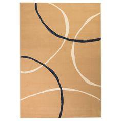 vidaXL Covor modern, design cercuri, 80 x 150 cm, maro Dark Grey Rug, Black Rug, Brown Rug, Yellow Rug, Neutral Color Scheme, Color Schemes, Cottage Rugs, Gold Rug, Scrappy Quilts