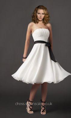 Lovely Strapless Chiffon Bridesmaid/Graduation Dress VPBN029