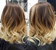 Brown to blonde ombré