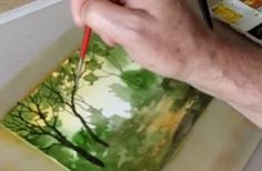 'Charging' up your watercolor John Salmon demo watercolor