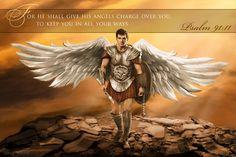Psalm 91:11 HenryCavill Archangel Michael by Uriel Welsh