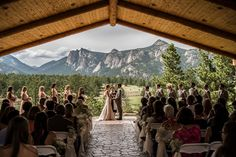 Estes Park- Twin Owls Pavilion at Black Canyon Inn I could handle getting married in Colorado one day... #notmadaboutit