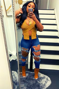 Swag Outfits For Girls, Cute Swag Outfits, Dope Outfits, Trendy Outfits, Fall Outfits, Fashion Outfits, Black Girl Fashion, Black Girl Swag, Baddie Outfits Casual