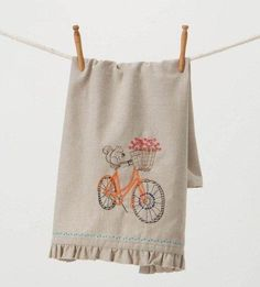 @Anna Lee McFadden  - an embroidery pattern for a squirrel on a bike! If this doesn't have your name all over it, I don't know what does!